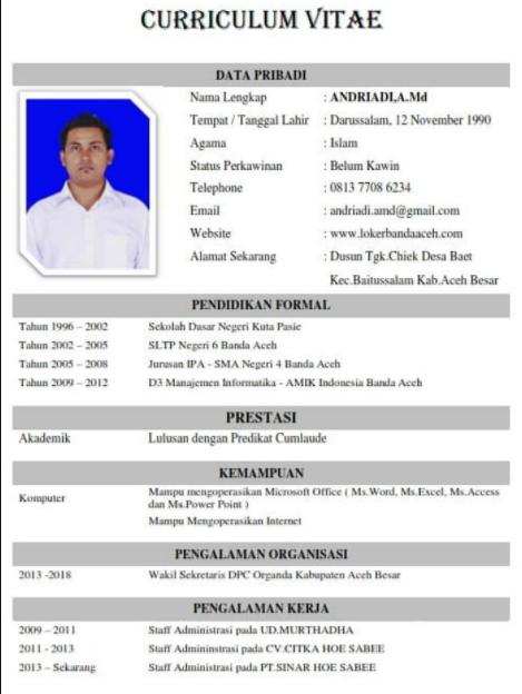 Pin By Jempolkaki Inc On Surat Lamaran Kerja Curiculum