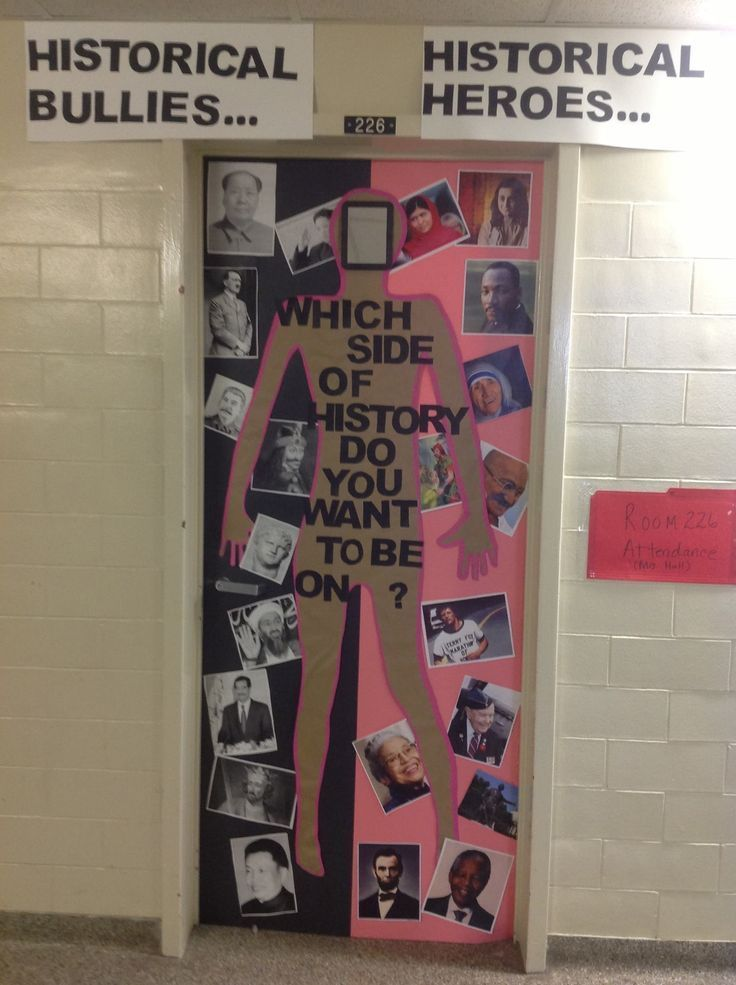 Anti-Bullying door decoration. Sea of Pink door ...