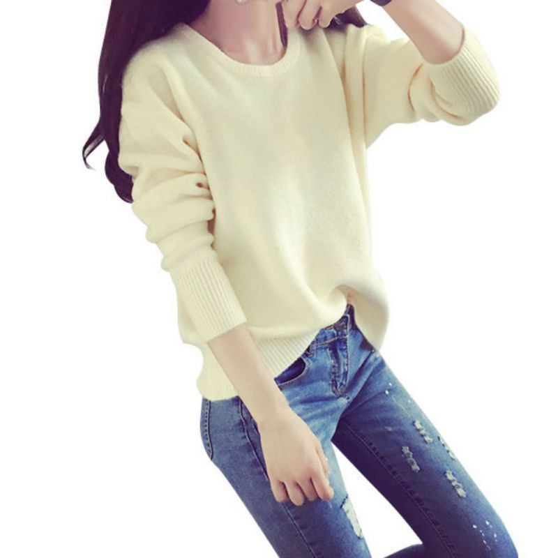 8 Colors Women Trendy Style Spring Autumn Round Neck Thick Pullover Sweatshirt Female Thick Knit Sweatshirts