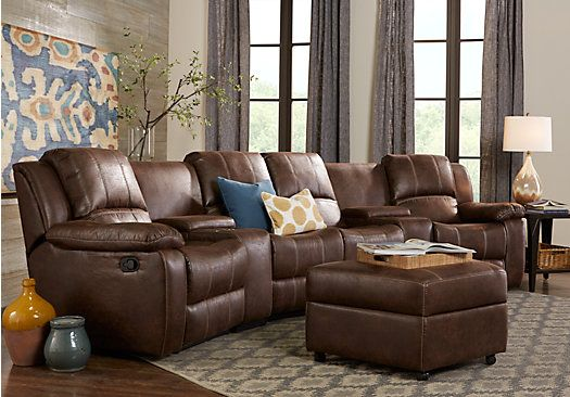 Saybrook Brown 6 Pc Sectional Living Room Plus HDTV 1 Find affordable Living Room