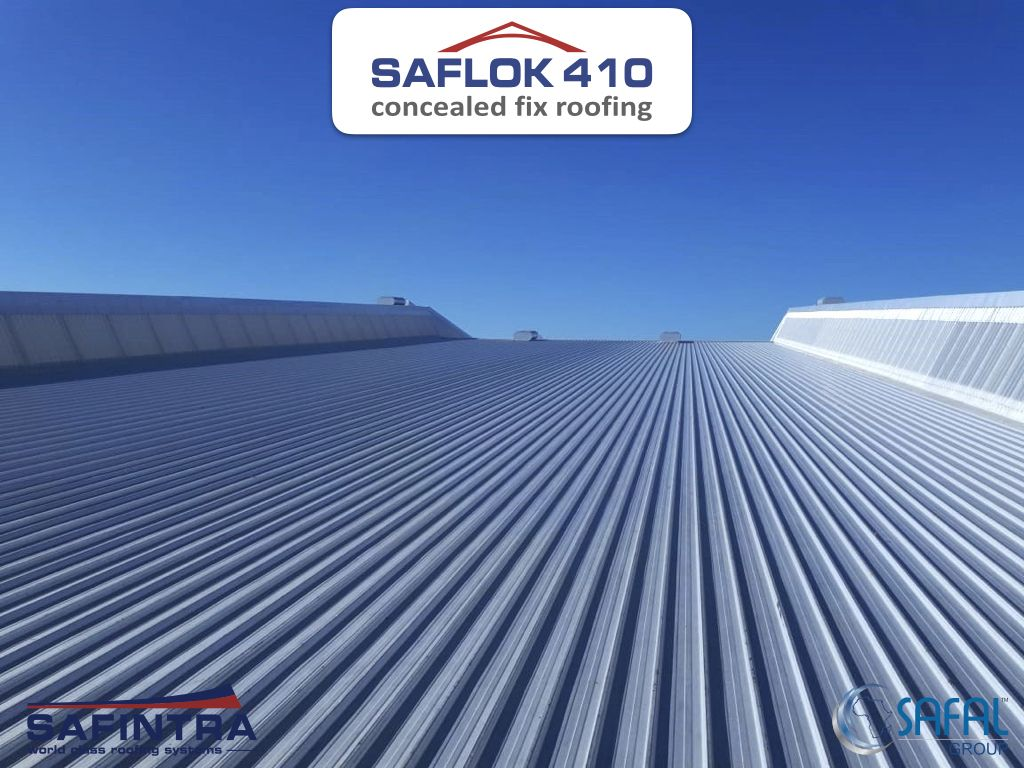 Saflok 410 Concealed Fix Metal Roofing Profile Safintra Is A Member Of The Safal Group Metal Roofing In South Af Roofing Cladding Systems Roofing Systems