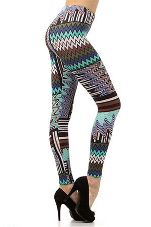Tribal Lust Leggings #worldofleggings #leggings #tribal #colorful