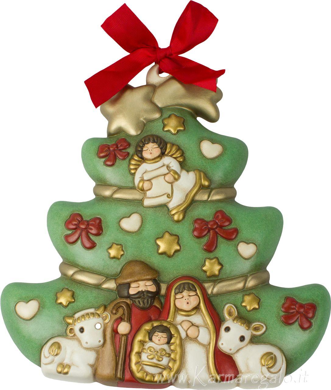 Albero Di Natale Thun Prezzo.Formella Albero Con Sacra Famiglia Thun Formella Natalizia Da Parete Dimensioni 24 X 23 5 Cm Alberi Di Natale Idee Di Natale Idee Per L Albero Di Natale