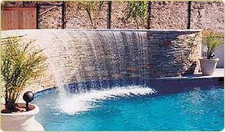 Very nice water wall could this be a possible back drop for Really cheap pools