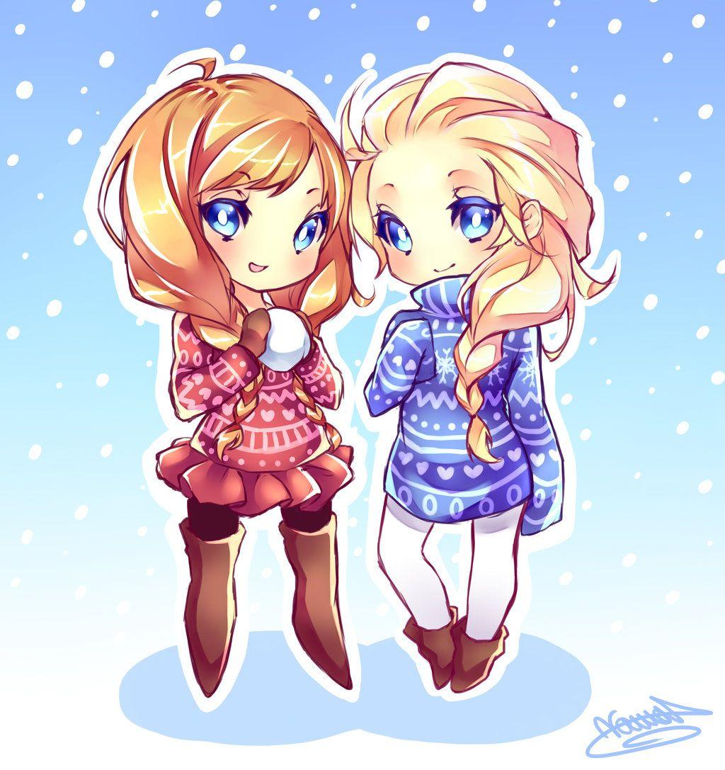 Anna and elsa THIS IS SOOOO CUTE