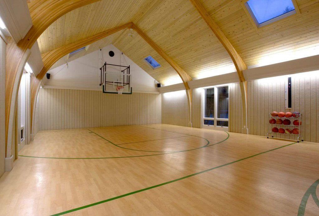 Ballin Indoor Basketball Courts For March Madness Freaks Home Basketball Court Indoor Basketball Court Indoor Basketball