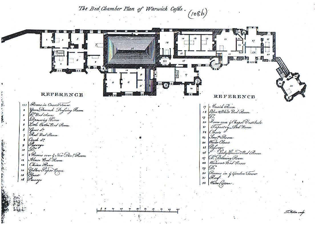 Greville Book Pgs 108b Warwick Castle Floor Plan1 Jpg 1104 800 Castle Plans Castle Floor Plan Warwick Castle
