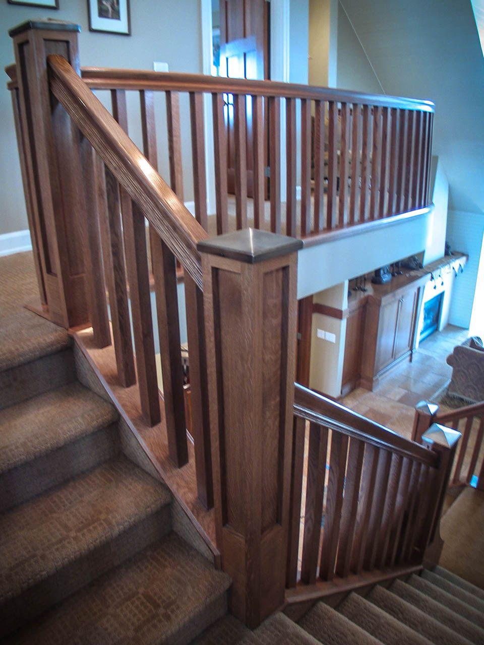 Best Mission Style Staircase In 2020 Stair Railing Design 400 x 300