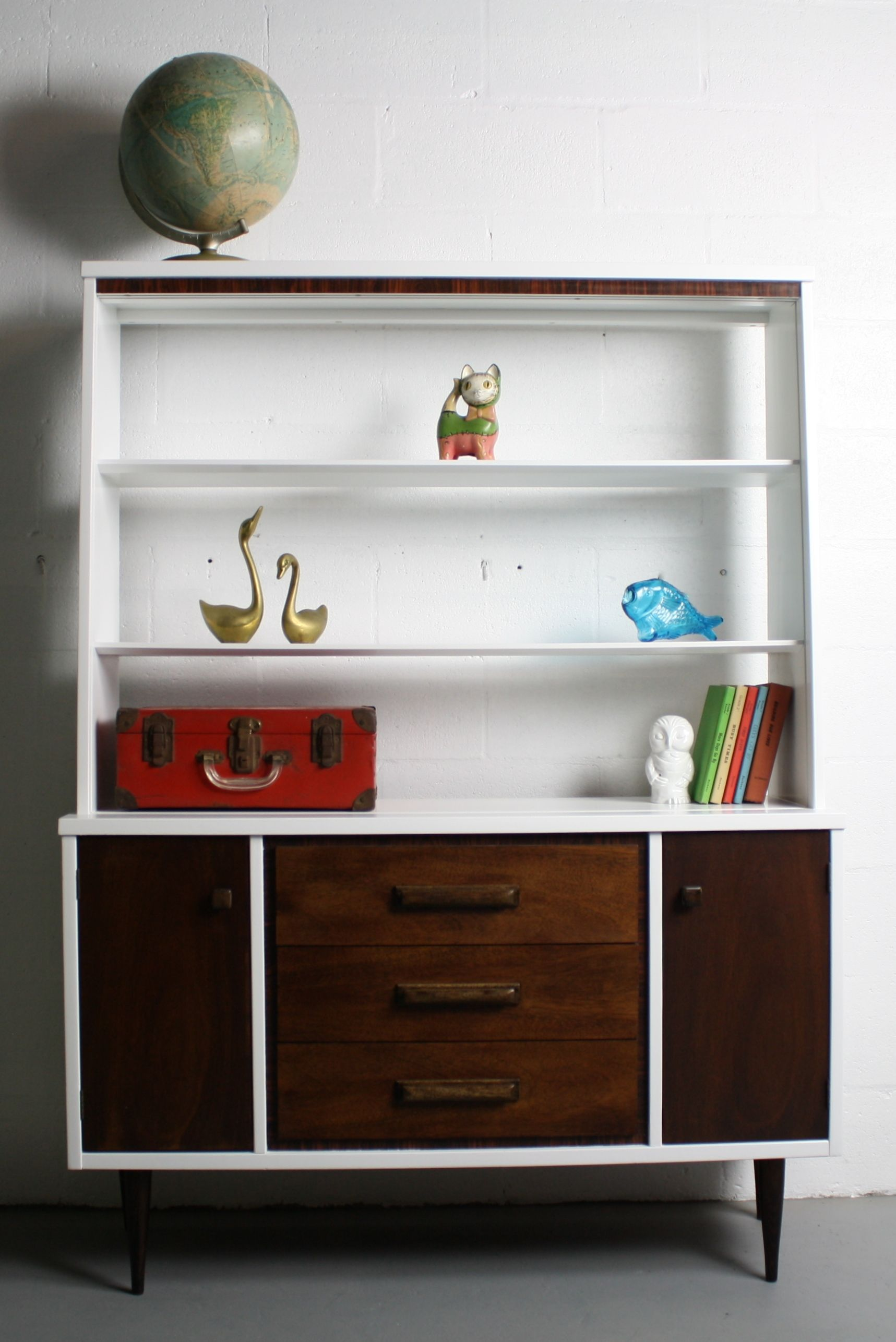 Painted 60s Kitchen Cabinets 60 39s Mid Century Modern Bassett China Cabinet By Abtmodern
