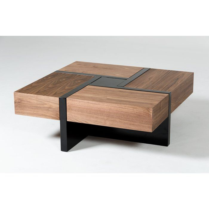 Lipscomb Makai Coffee Table With Storage Coffee Table Square Black Square Coffee Table Modern Wood Coffee Table