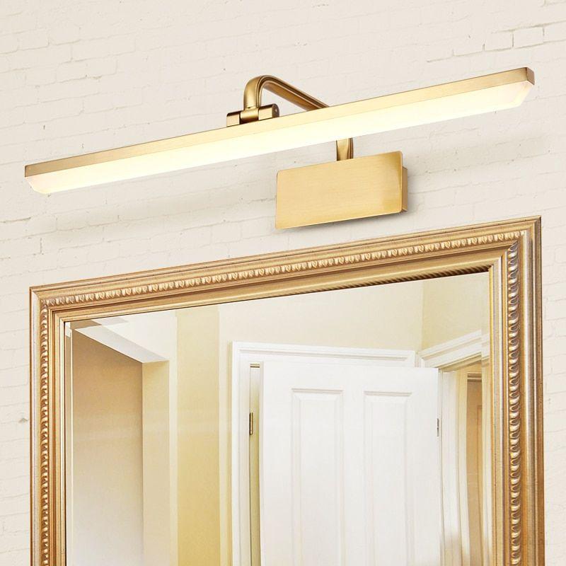 Vintage Led Mirror Front Lamp Retro Bathroom Dresser Mirror Vanity Lights Cabinet Lamp Waterproof Makeup Bath Room Mirror Lamp In 2020 Modern Bathroom Mirrors Bathroom Mirror Lights Modern Bathroom Lighting