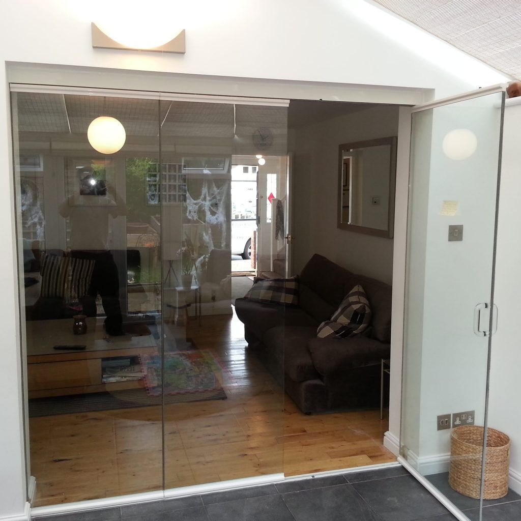 Frameless Glass Folding Doors Interior