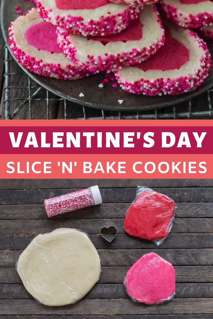 Valentine's Day Slice 'N' Bake Cookies