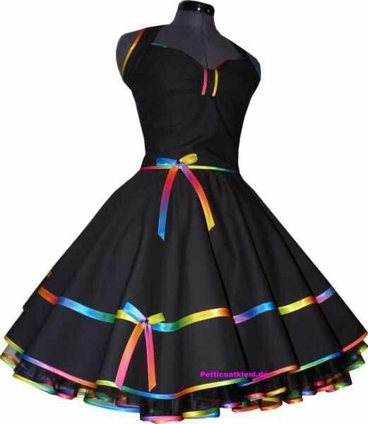 Black Dress Rainbow Petticoat Google Search