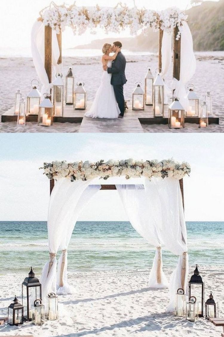 20 Beach Wedding Ceremony Arch Ideas For 2020 In 2020 With Images