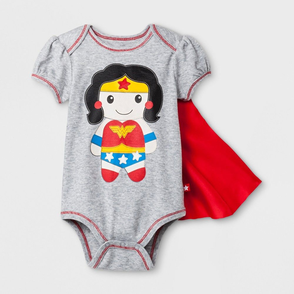 7888e984 ... too early to empower your favorite gal so get baby dressed in super  cute style with the Short-Sleeve Bodysuit with Removable Cape from Wonder  Woman.
