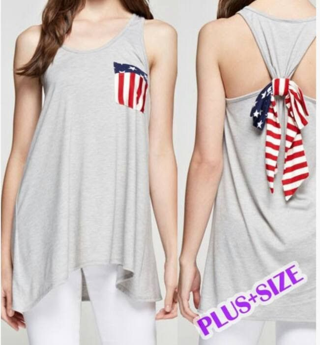 plus size 4th of july tank top | 4th of july | pinterest | clothes