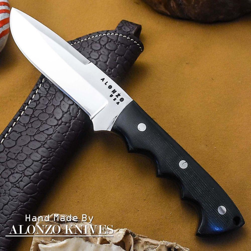 Alonzo Knives Usa Custom Handmade Tactical Bushcraft 1095 Knife Micarta 1532 Knife Micarta Cool Knives