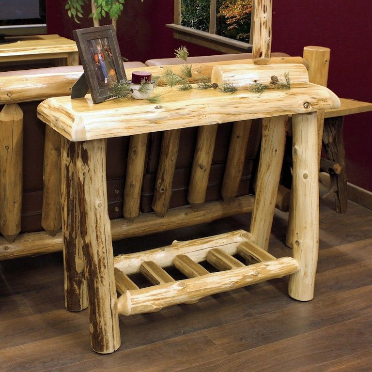 Cedar Lake Cabin Log Sofa Table Jhe S Log Furniture