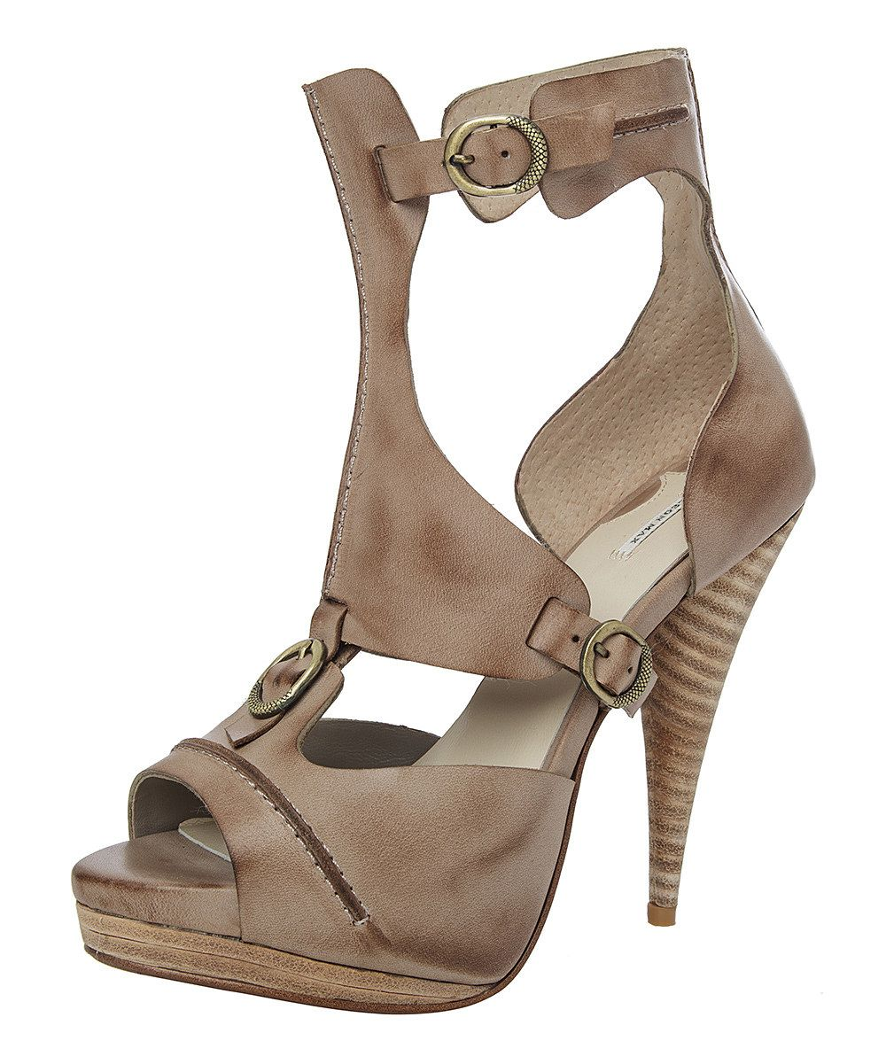This Maxstudio.com Taupe X-Pat Leather Sandal by Maxstudio.com is perfect! #zulilyfinds