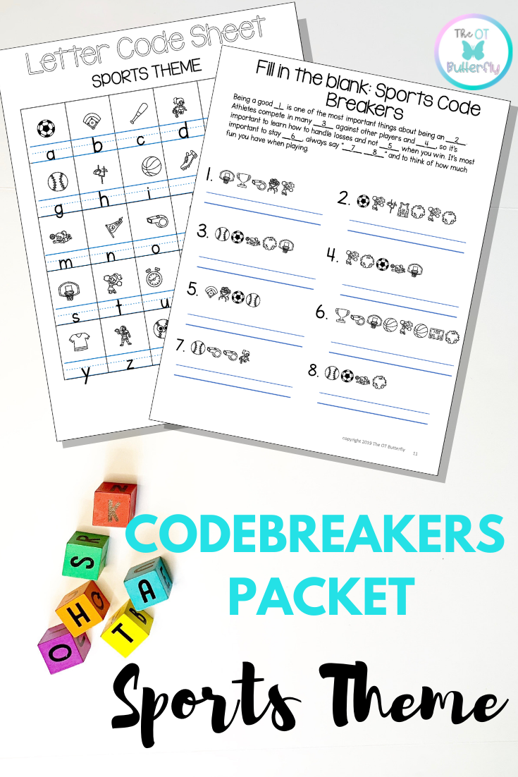 Cryptogram Code Breakers Worksheets Sports theme, NO PREP