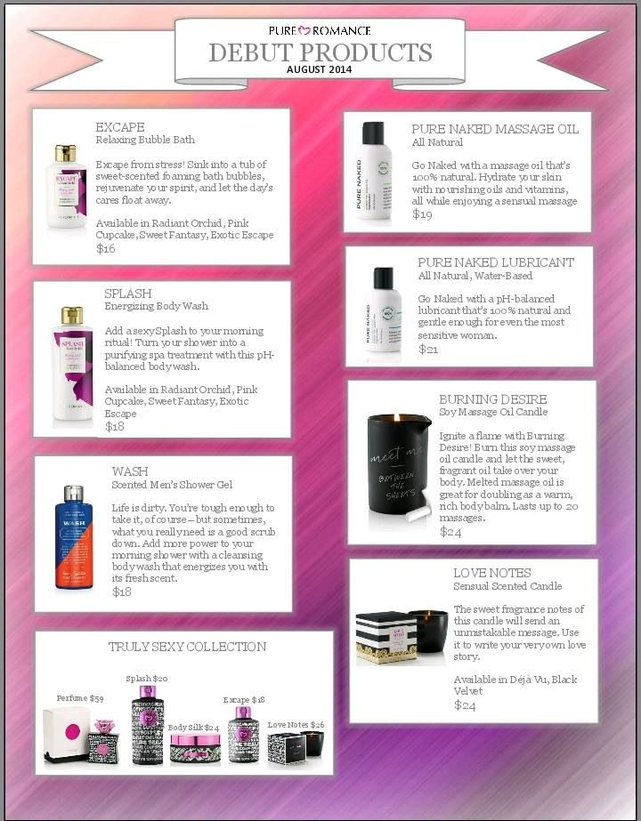 New Products! Who's ready for a Girls Night?! Www.stefaniepayne.pureromance.com