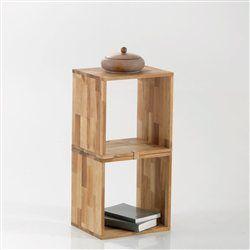 Tag re cube rangement ch ne massif edgar lot de 2 la redoute interieurs - Cube de rangement ikea ...