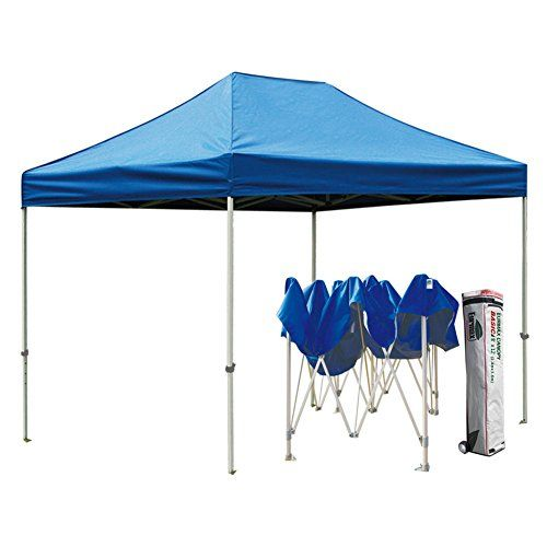 New Eurmax Basic 8x12 Ez Pop Up Canopy Party Wedding Tent Gazebo With Wheeled Bag No Sidewalls Blue More Details Can Be Found By C Camping Tents Pinte