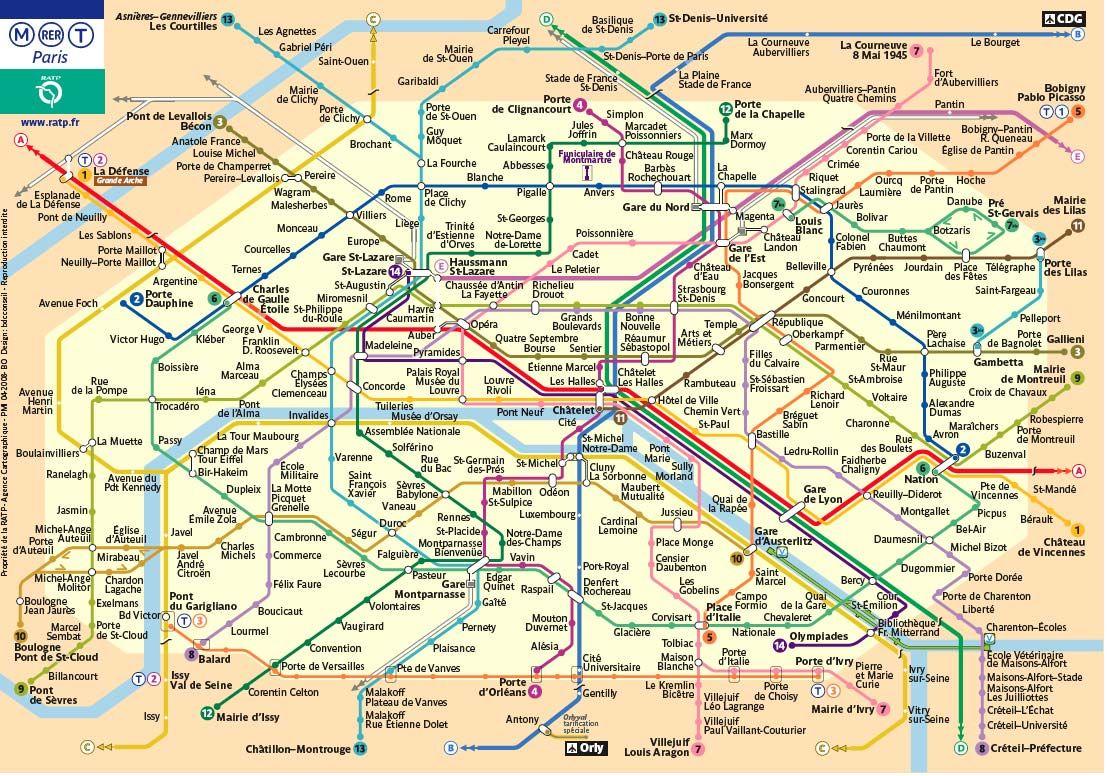 The Paris Metro Network Paris Metro Map Paris Metro Paris Map