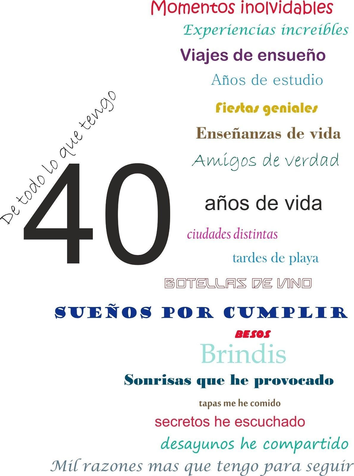 Pin De Clau Reyna En My Bday Cumpleaños 40 Frases