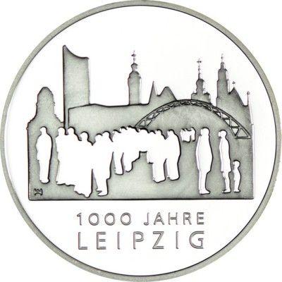 10 Euro Silber 1000 Jahre Leipzig PP