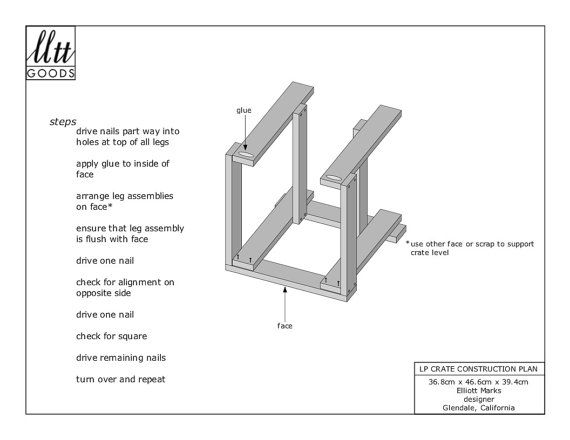 Plans to build my LP record crate design in metric. Six