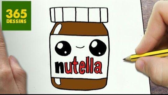 Nutella Kawaii Kawaii Drawings Dessins Kawaii Kawaii Doodles