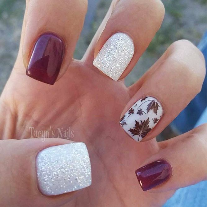 30 Cute Autumn Nail Designs You Ll Want To Try Nails Thanksgiving Nails Thanksgiving Nail Art