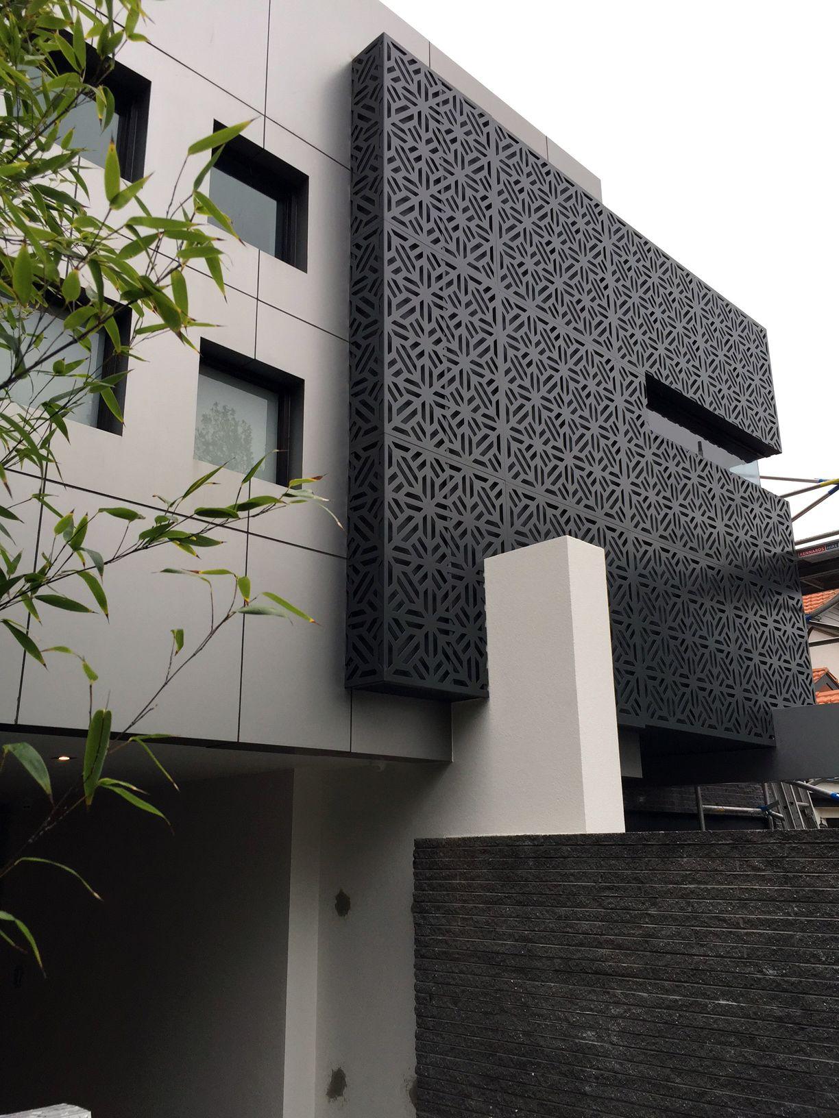 Building Exterior: Perforated Decorative Aluminium Screening, Exterior Facade
