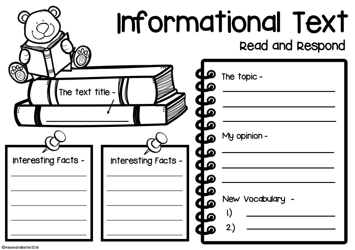 small resolution of This resource includes 5 different worksheets (3 graphic organizers and 2  book reports) for …   Reading response worksheets