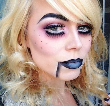 Maquillaje Halloween 2015 de Mueca ventrlocua disfraces