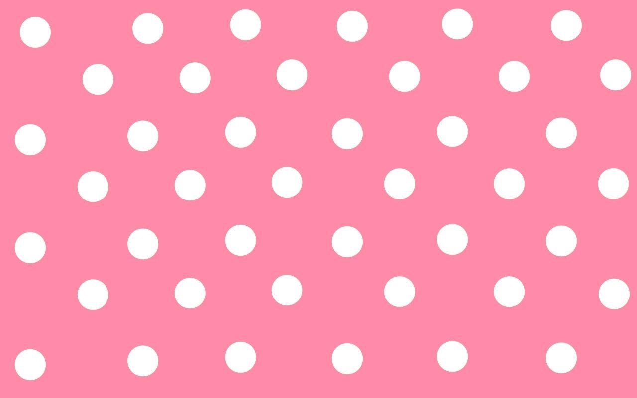 Pink Polka Dots Wallpaper Wallpaper Cloud