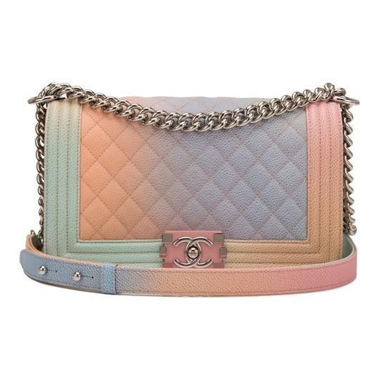475fdfa1e5c9 Chanel Boy Pink Rainbow Printed Caviar Medium Multicolor Leather Shoulder  Bag. Get one of the hottest styles of the season! The Chanel Boy Pink  Rainbow ...