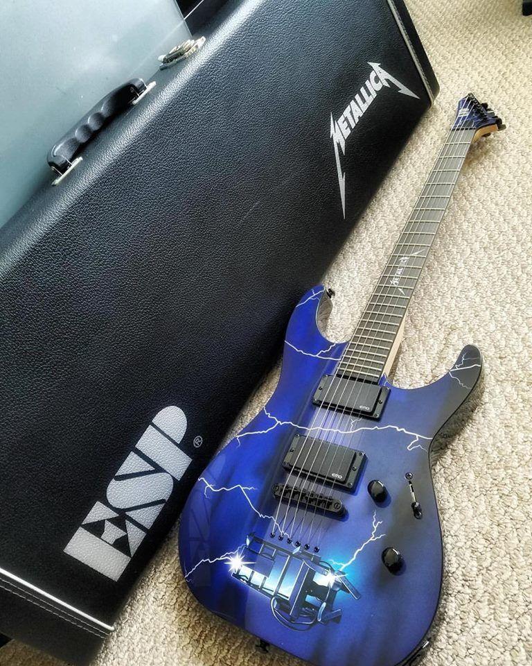Esp Metallica Ride The Lightning Guitar Guitar Pinterest