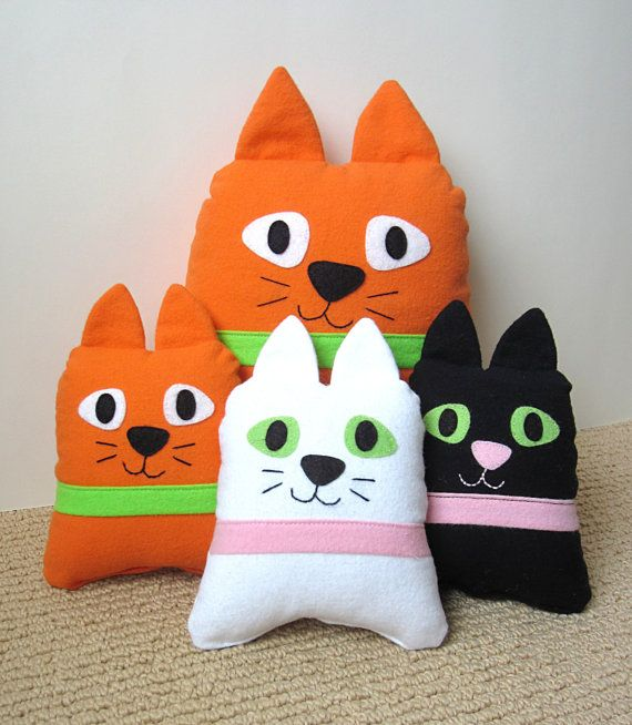 Stuffed Cat Pillow Tutorial Funky Kawaii Cat \u0026 Kitten PDF Sewing Pattern Easy Beginner DIY Softie Plush Gifts for Children & Stuffed Cat Pillow Tutorial Funky Cat \u0026 Kitten PDF by MyFunnyBuddy ... pillowsntoast.com