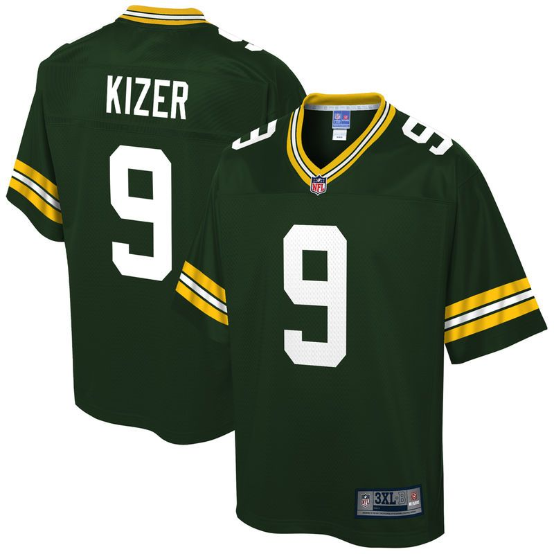 half off 9d3ab e9e07 DeShone Kizer Green Bay Packers NFL Pro Line Big & Tall Team ...