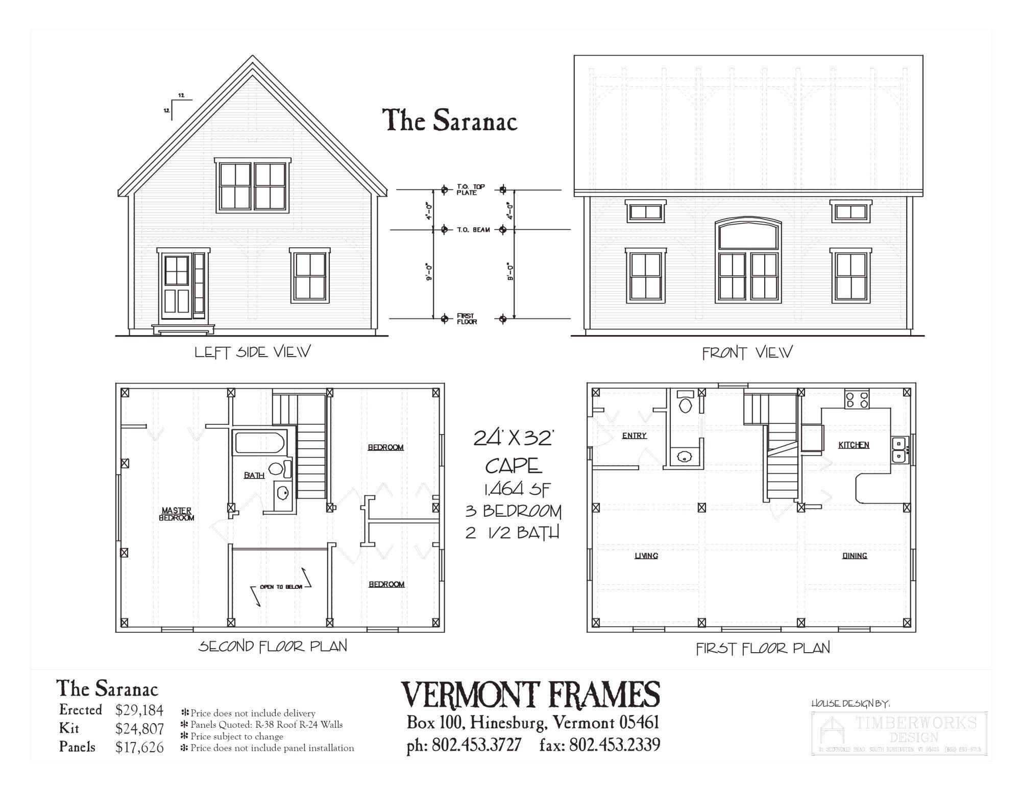 Saranac Cape Timber Frame Home Plans Timber Frame Homes House Plans