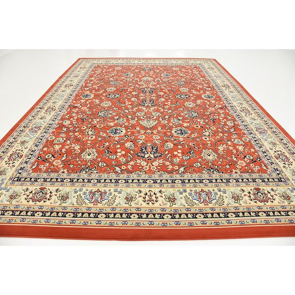 Kashan Terracotta Area Rug | Wayfair