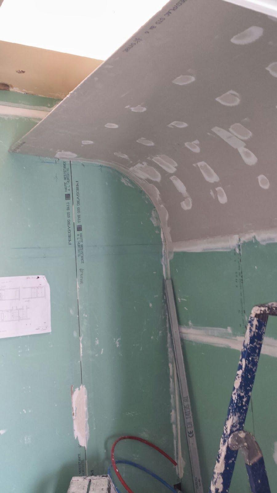 lcch: Plafond angle arrondi pour salle de bain disign  Plafond
