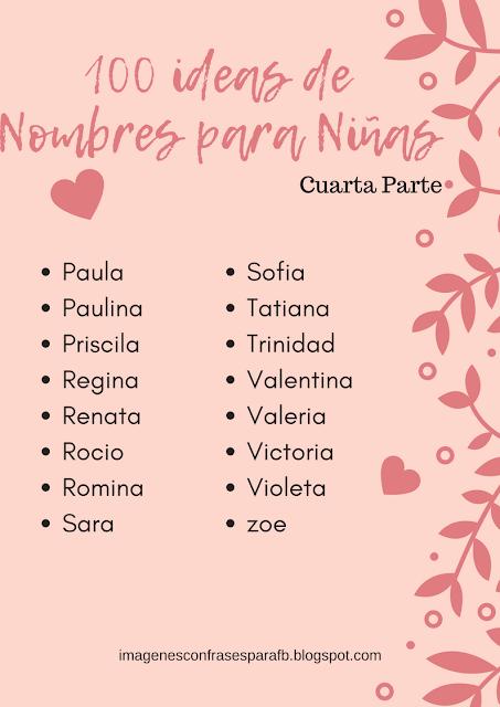 100 Ideas De Nombres Para Niñas 4 Cuarta Parte Nombres Bébé Bebes Mama Nombres De Niñas Nombres De Bebes Nenas Nombre De Niñas Bonitos