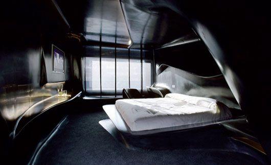futuristic hotel bedroom interior design from zaha hadid - 2