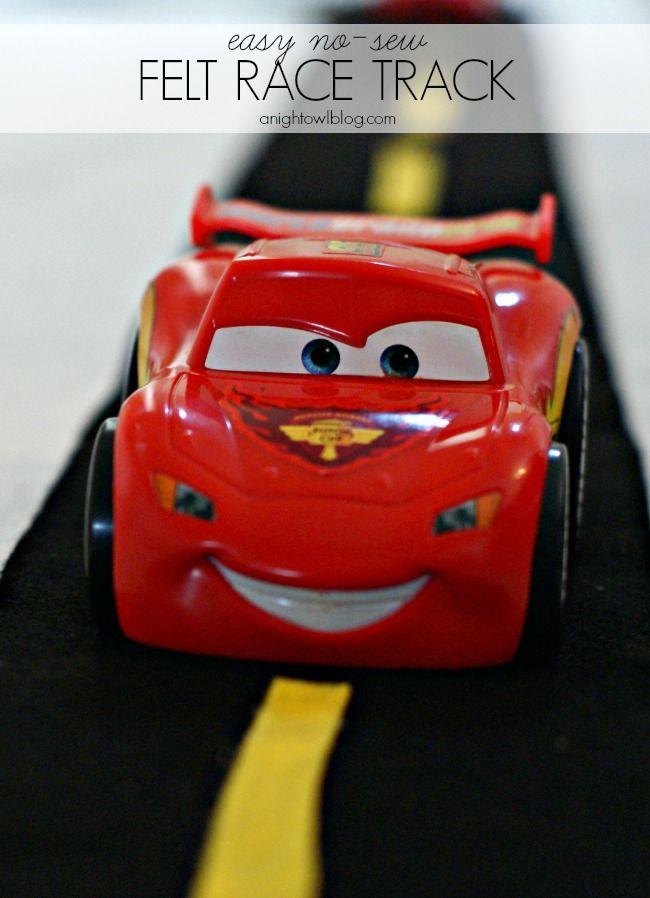 Easy no sew Felt Race Track perfect