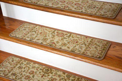 Dean Premium Carpet Stair Tread Rugs Bergama Ivory 31 W 13 Carpet Stair Treads Stair Tread Rugs Stair Treads