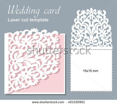 Vector die laser cut wedding card template wedding invitation card vector die laser cut wedding card template wedding invitation card mockup stopboris Choice Image